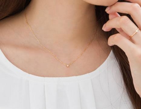 ダイヤモンド 0.05ct ネックレス ペンダント K10