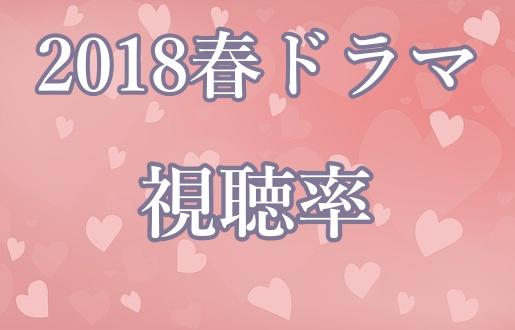 2018,春ドラマ,視聴率