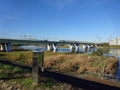 多摩川・陸橋