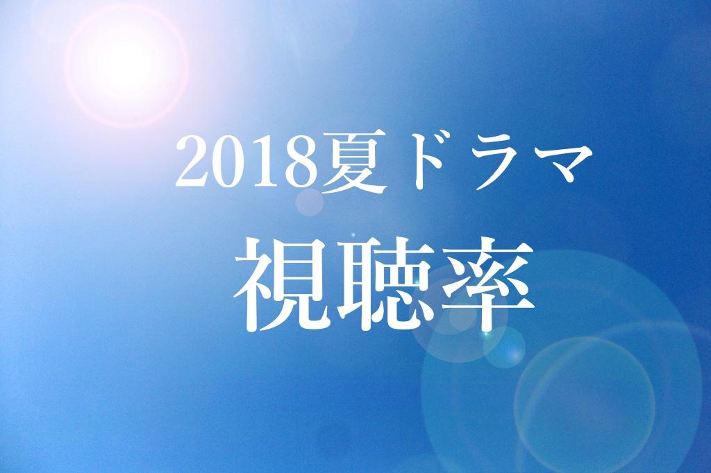2018夏ドラマ,視聴率