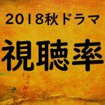 2018秋ドラマ視聴率