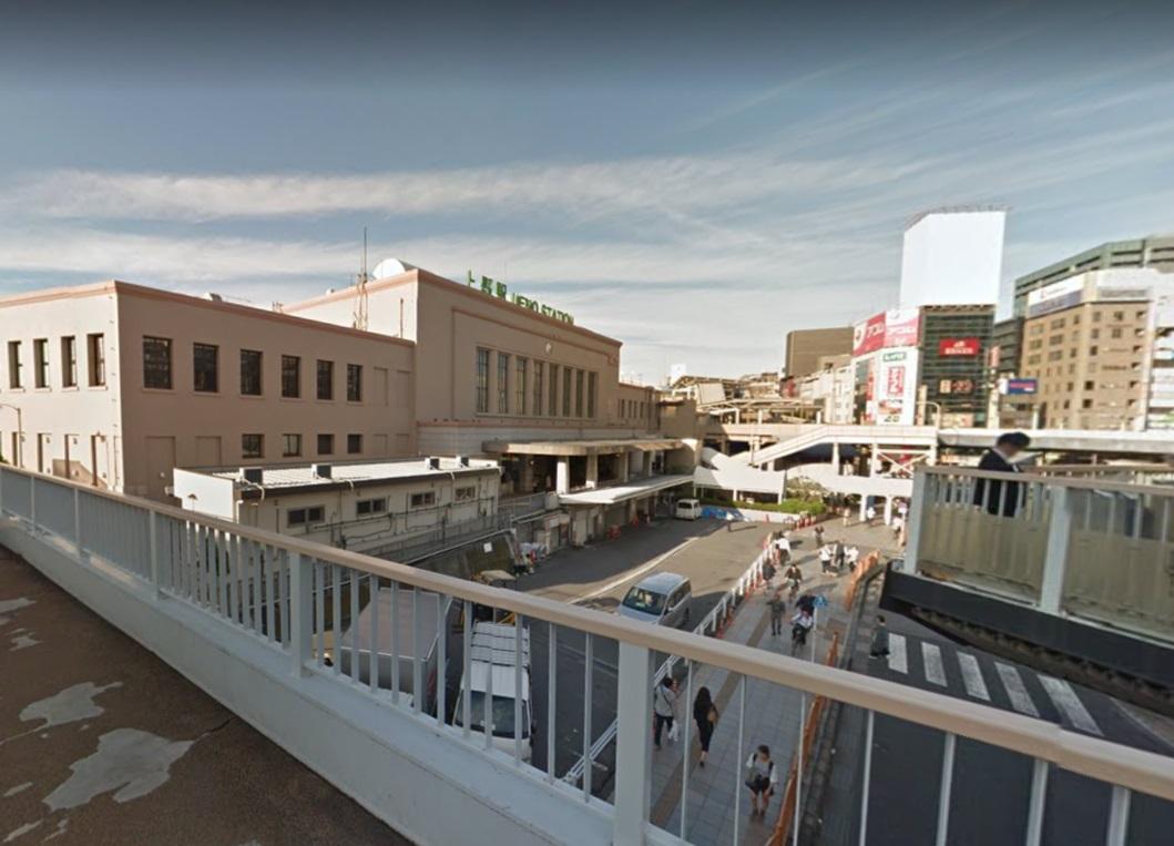 上野駅のウェストリアンデッキ