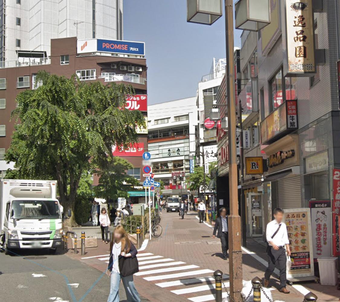 大森駅東口の路地