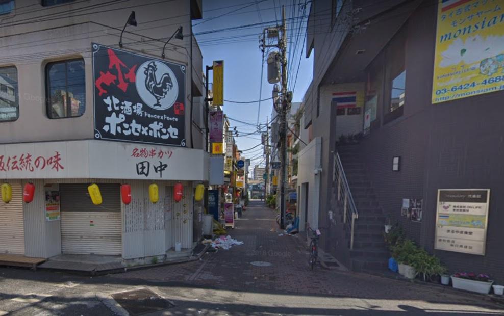 蒲田の路地