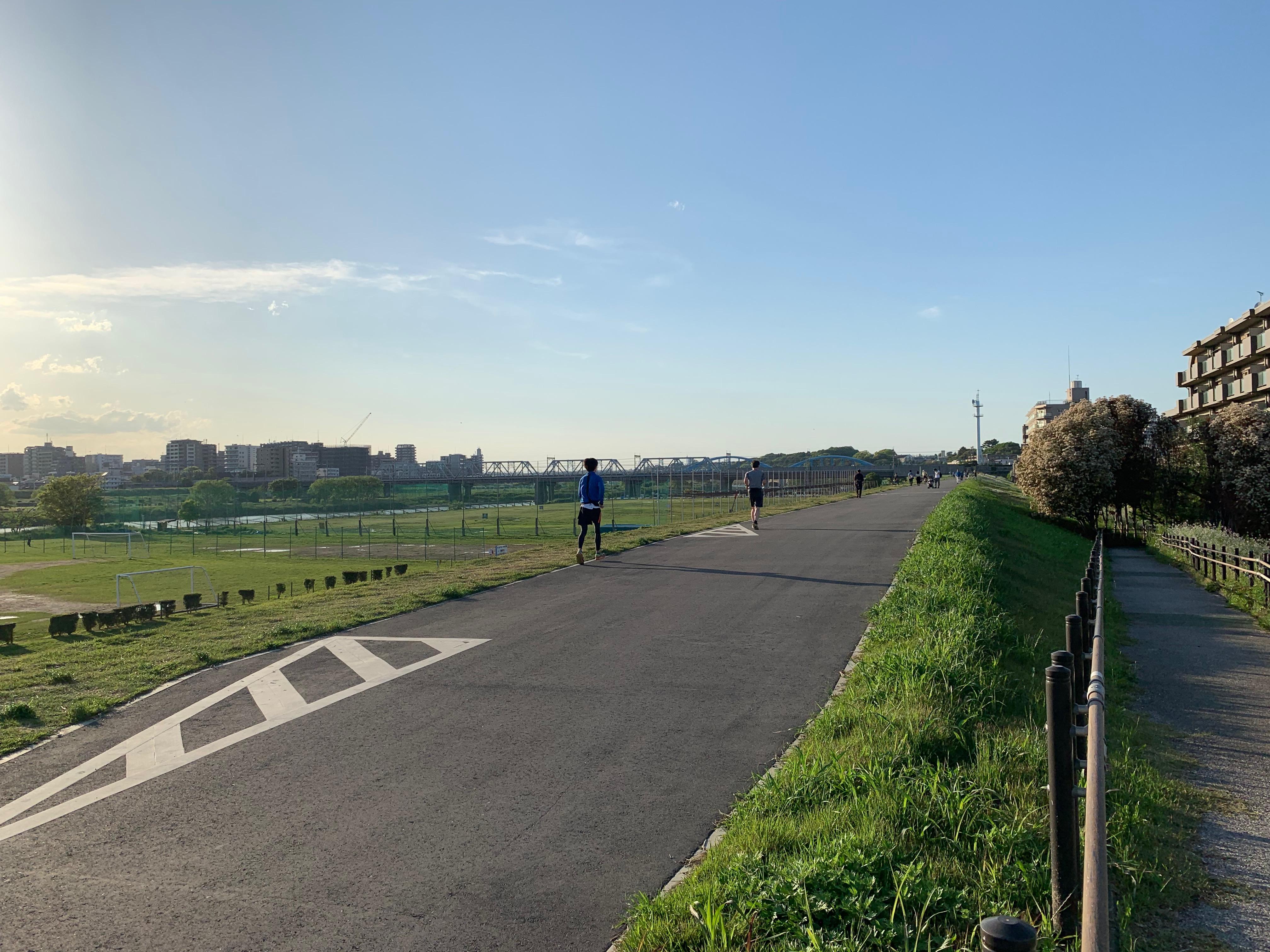 大田区田園調布南,多摩川河川敷
