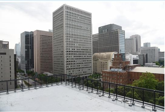 NTT日比谷ビルの屋上
