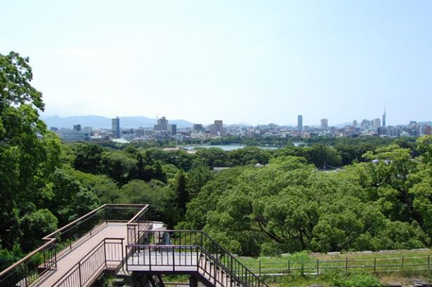福岡城 大天守台跡の展望台1